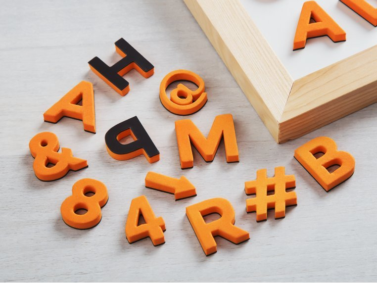 Modern Magnetic Letters by The Type Set Co. - 1
