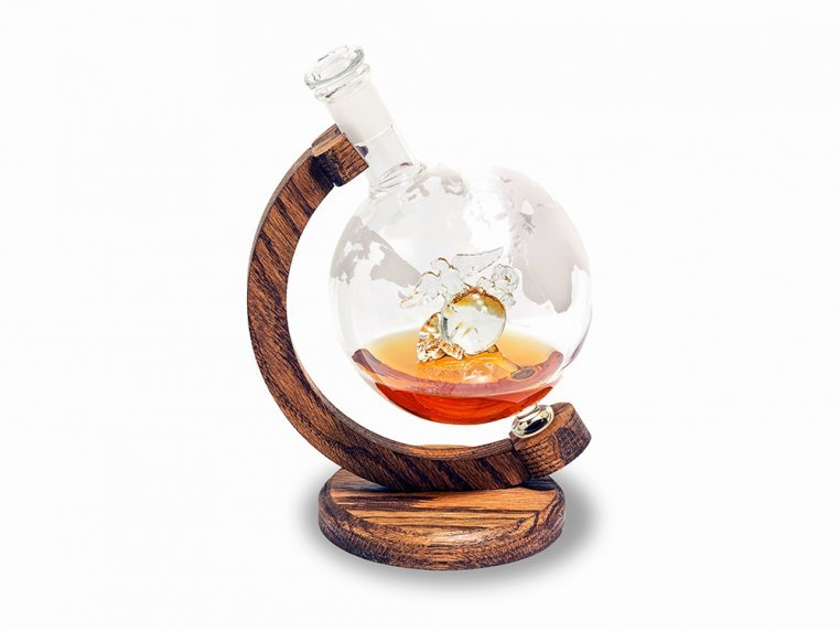 Hand-Blown Glass Decanter & Wood Base by Prestige Decanters - 15