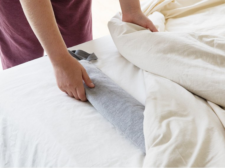 Extra Long Hot Water Bottle - Pebble Japanese Cotton by YuYu Bottle - 4