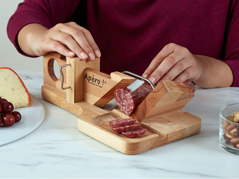 Handcrafted Sausage & Cheese Slicer by So Apéro - 1