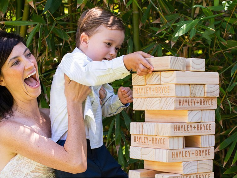 Personalized Giant Tumbling Timbers by Yard Games - 2