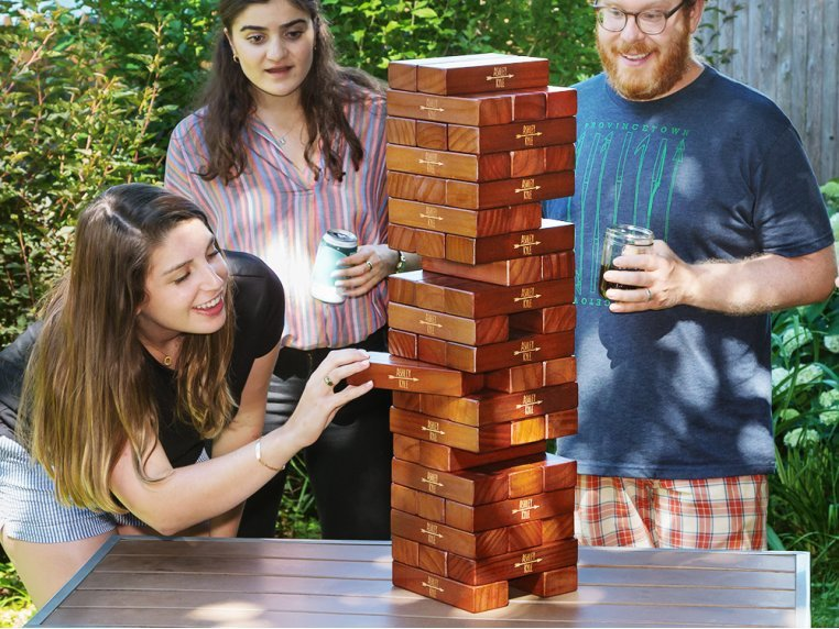 Personalized Giant Tumbling Timbers by Yard Games - 1