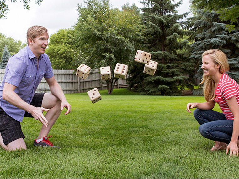 Personalized Giant Wooden Yard Dice by Yard Games - 2