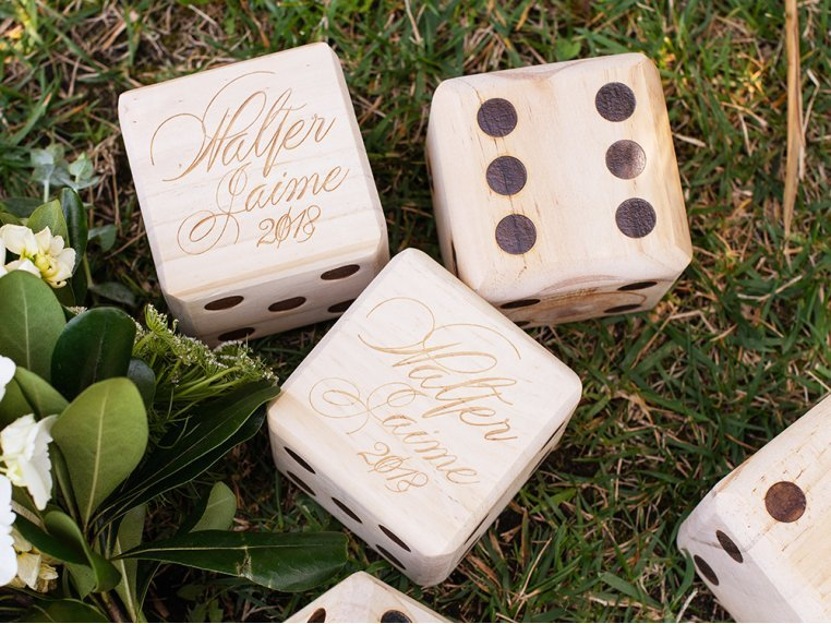 Personalized Giant Wooden Yard Dice by Yard Games - 3