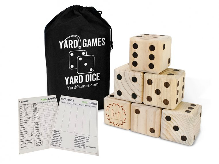 Personalized Giant Wooden Yard Dice by Yard Games - 4