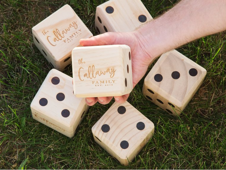 Personalized Giant Wooden Yard Dice by Yard Games - 1