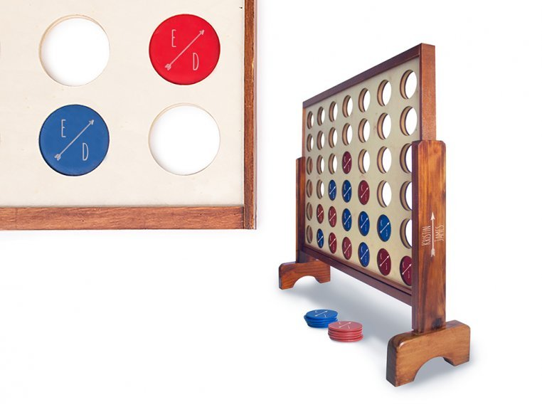 Personalized Giant 4 Connect in a Row by Yard Games - 9