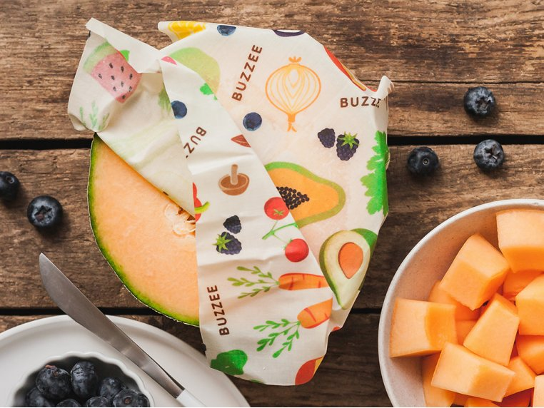 Eco-Friendly Food Wrap - Multipack by Buzzee Wraps - 3