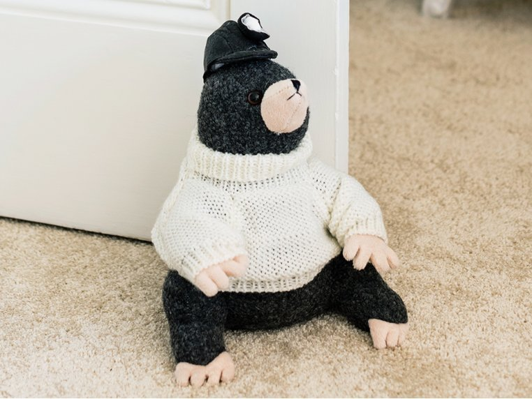 Whimsical Animal Doorstop - Markie Mole by Dora Designs - 1