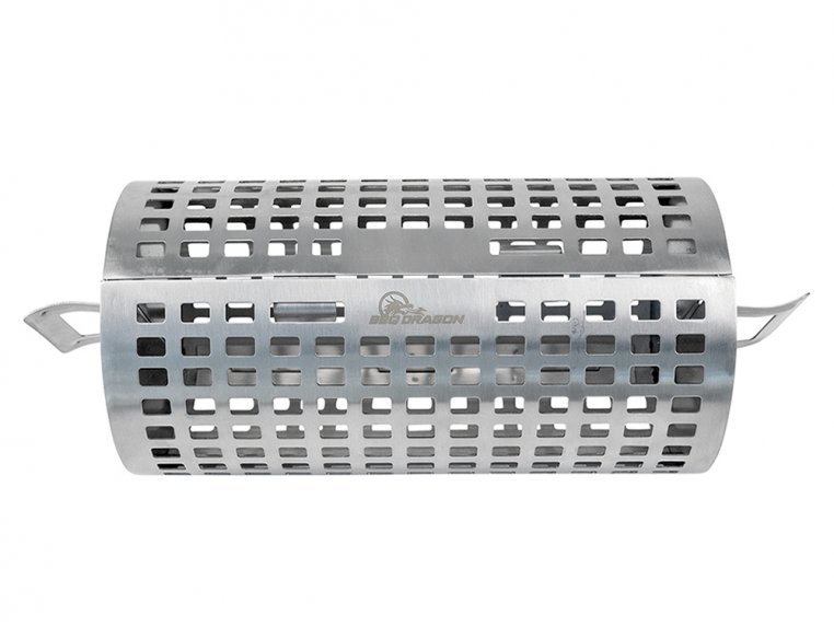 Stainless Steel Rolling Grill Basket by BBQ Dragon - 4