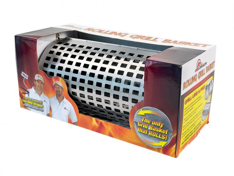Stainless Steel Rolling Grill Basket by BBQ Dragon - 5