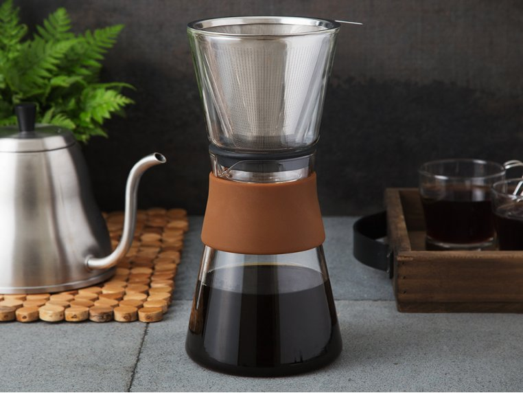 Pour Over Coffee Maker & Carafe Set by Grosche - 1