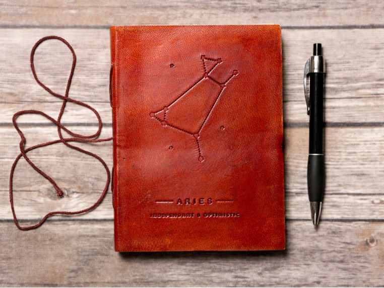Handcrafted Leather Zodiac Journal by Soothi - 1