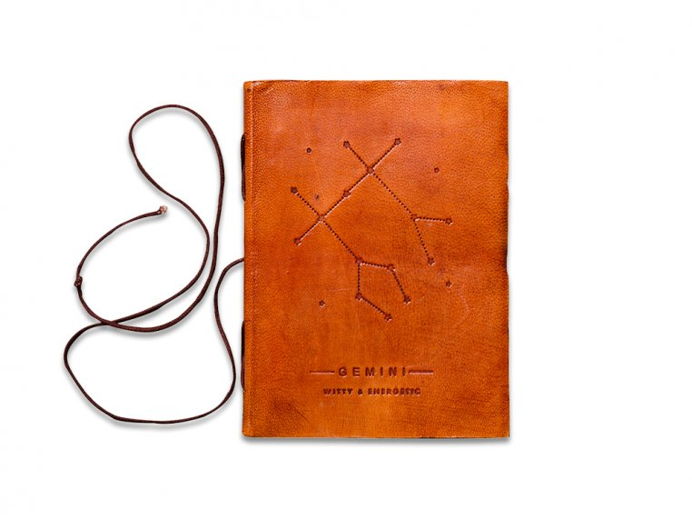 Handcrafted Leather Zodiac Journal by Soothi - 11