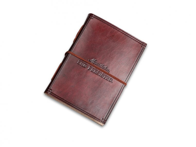 Handcrafted Leather Embossed Journal by Soothi - 4