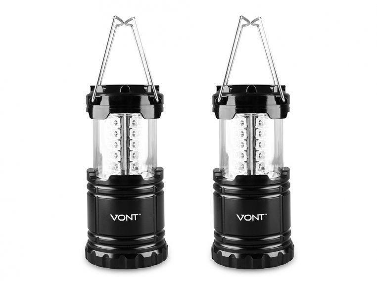 Collapsible LED Lantern - Set of 2 by Vont - 4
