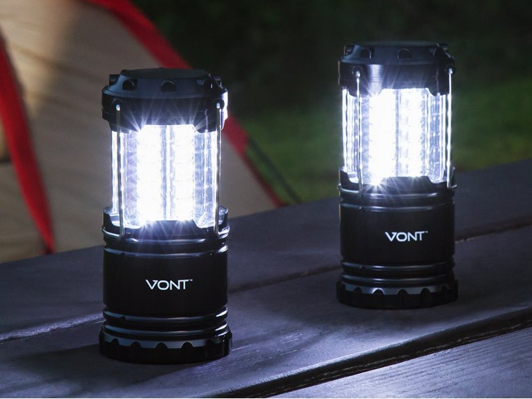 Collapsible LED Lantern - Set of 2 by Vont - 1