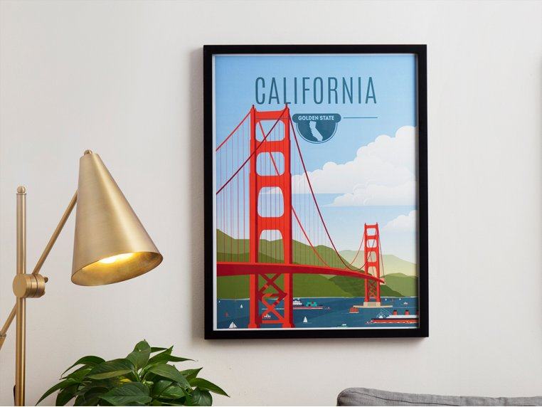 Iconic State Wall Art by Point Two Design - 1
