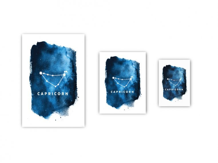 Constellation Zodiac Sign Art Print by Point Two Design - 3