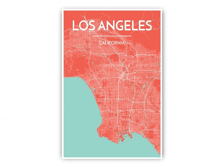 Modern City Map Art Print by Point Two Design - 5