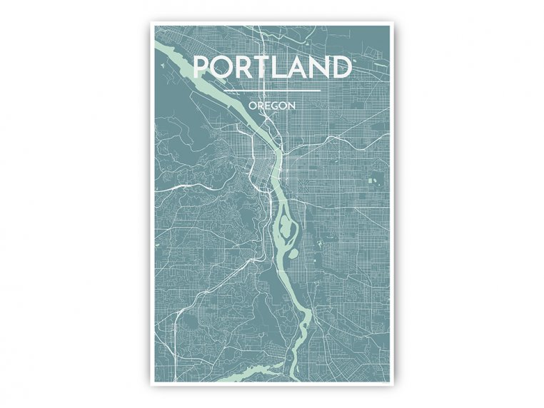 Modern City Map Art Print by Point Two Design - 9