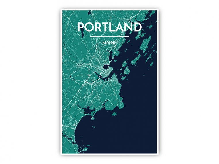 Modern City Map Art Print by Point Two Design - 15