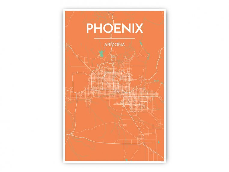 Modern City Map Art Print by Point Two Design - 17