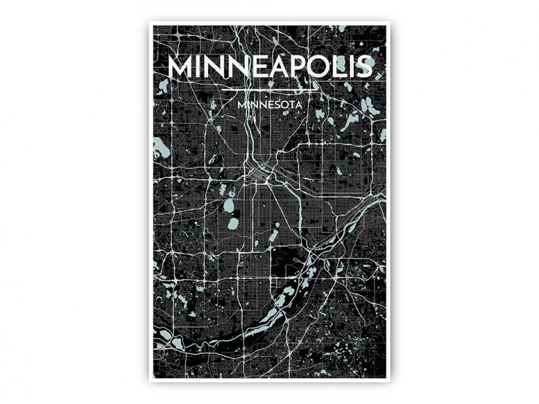 Modern City Map Art Print by Point Two Design - 19