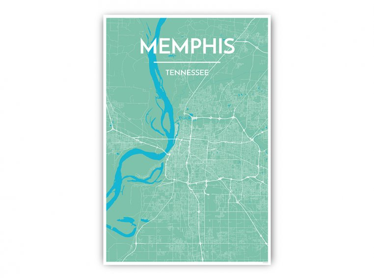Modern City Map Art Print by Point Two Design - 21