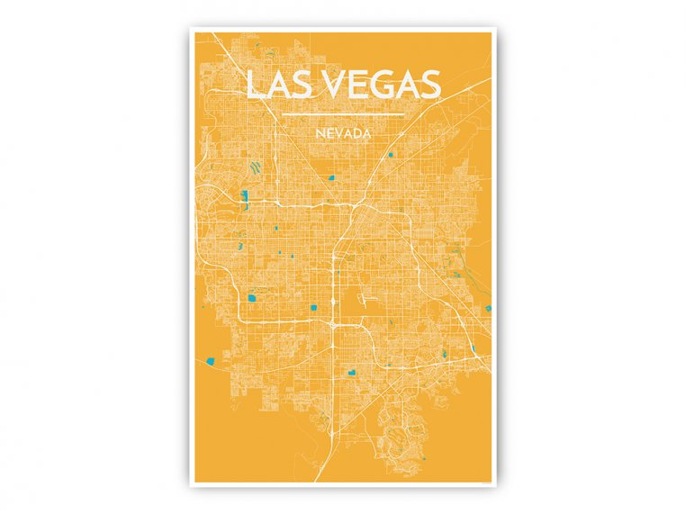 Modern City Map Art Print by Point Two Design - 23