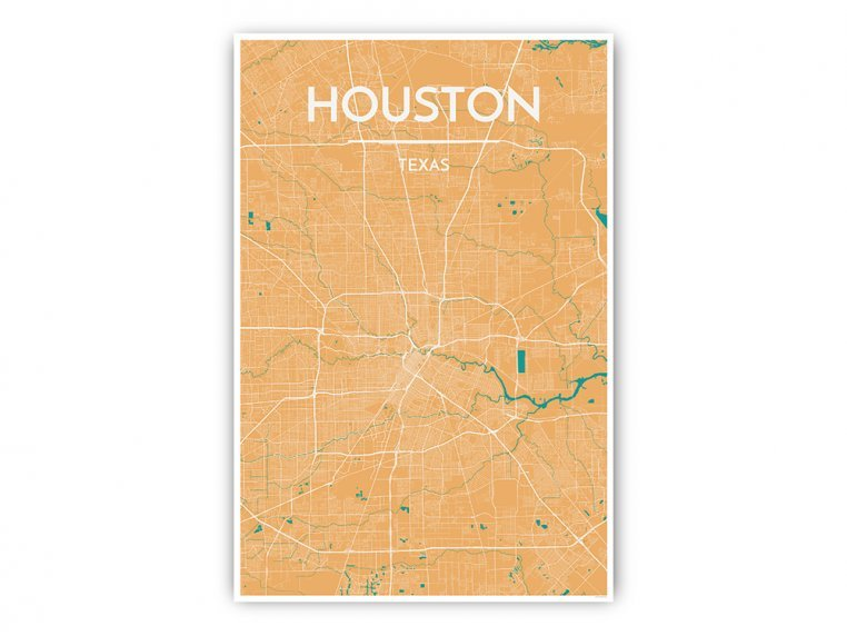 Modern City Map Art Print by Point Two Design - 26