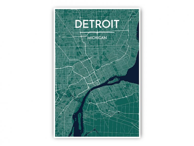 Modern City Map Art Print by Point Two Design - 27