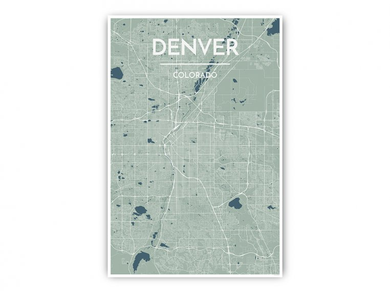 Modern City Map Art Print by Point Two Design - 28