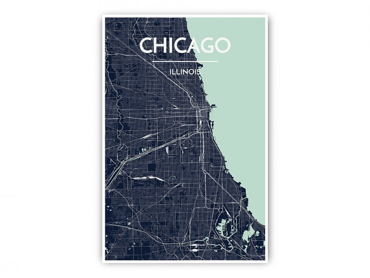 Modern City Map Art Print by Point Two Design - 30