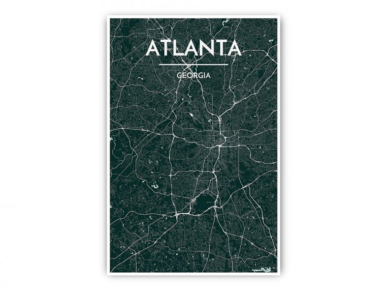 Modern City Map Art Print by Point Two Design - 33