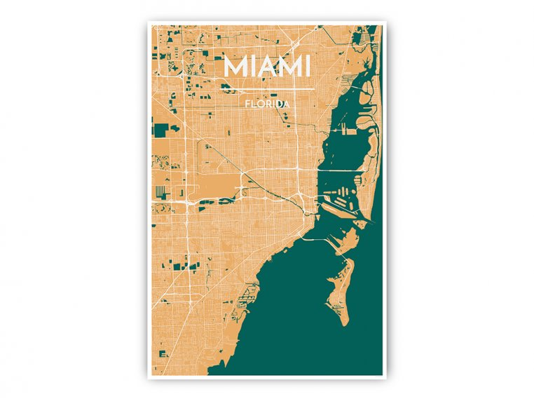 Modern City Map Art Print by Point Two Design - 34