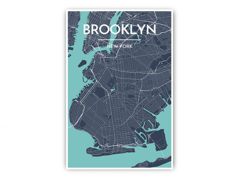 Modern City Map Art Print by Point Two Design - 36