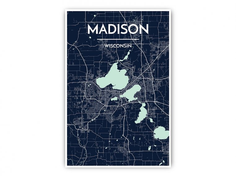 Modern City Map Art Print by Point Two Design - 37