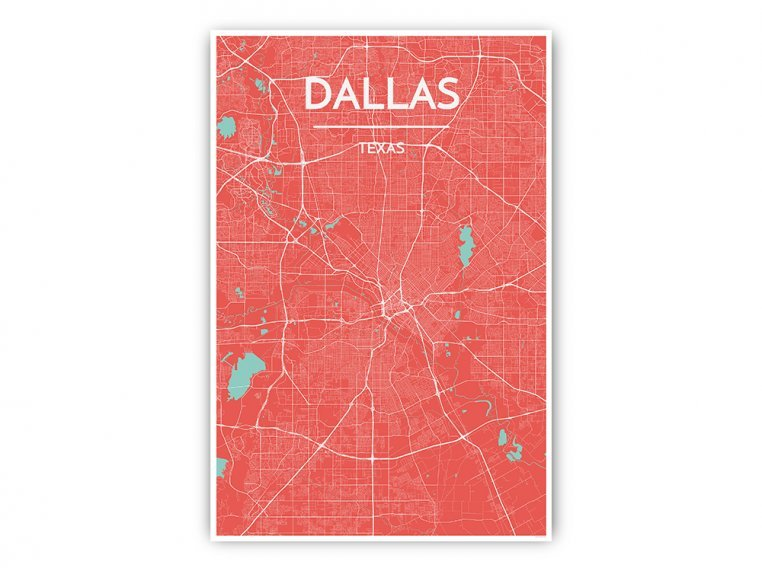 Modern City Map Art Print by Point Two Design - 38