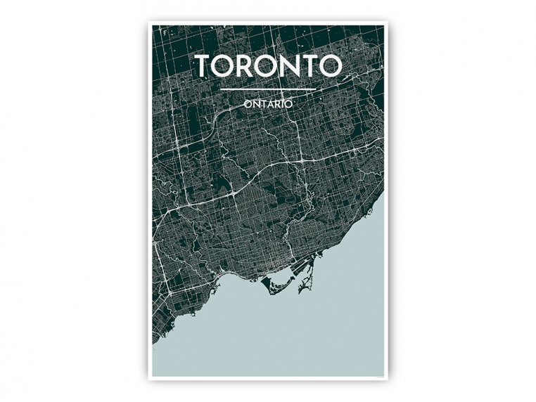 Modern City Map Art Print by Point Two Design - 41