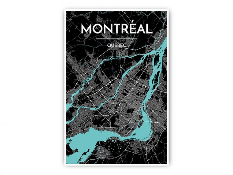 Modern City Map Art Print by Point Two Design - 42