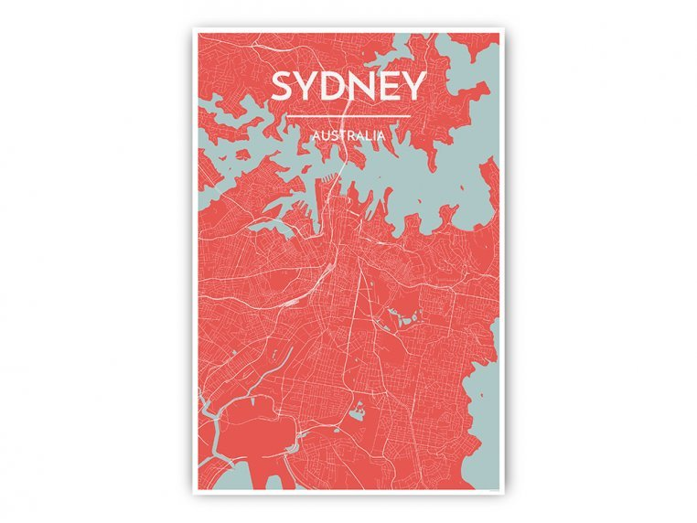 Modern City Map Art Print by Point Two Design - 43