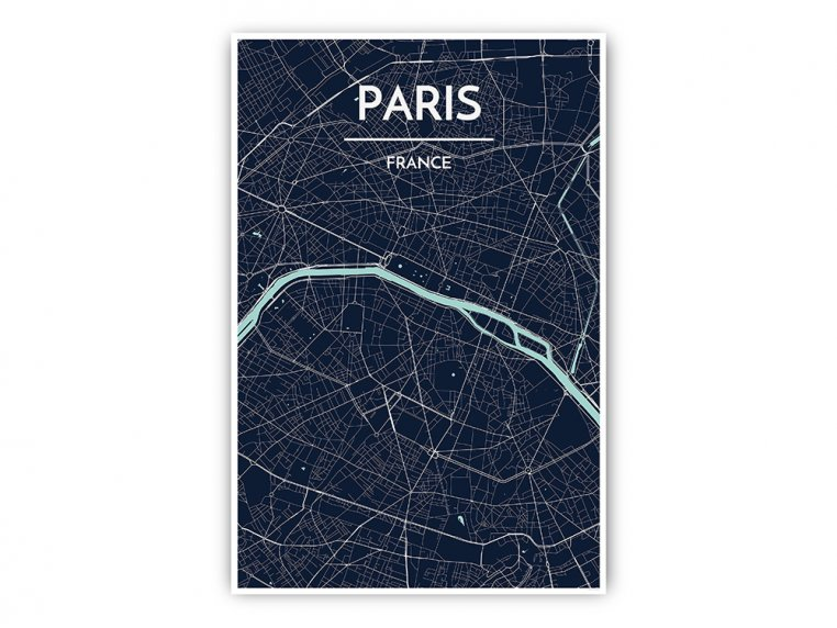 Modern City Map Art Print by Point Two Design - 45