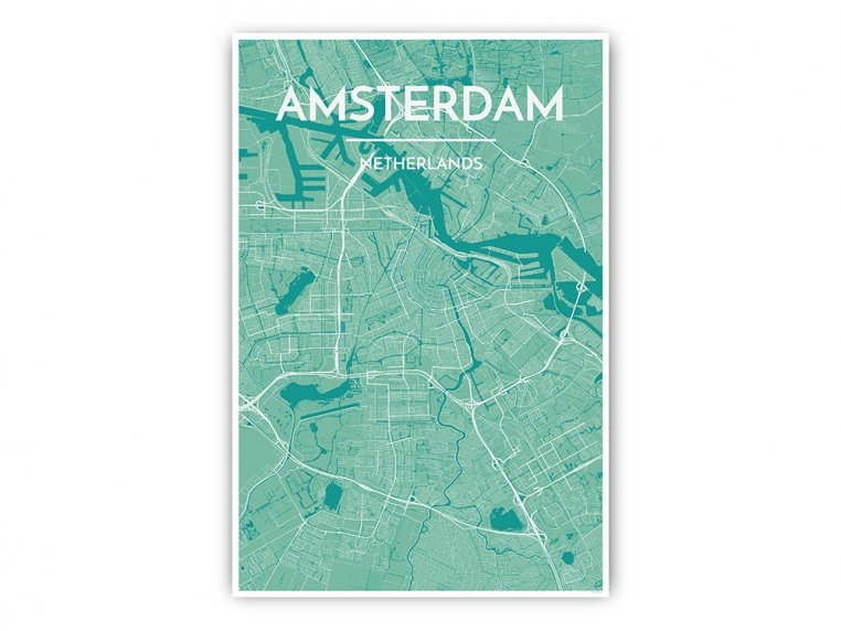 Modern City Map Art Print by Point Two Design - 46