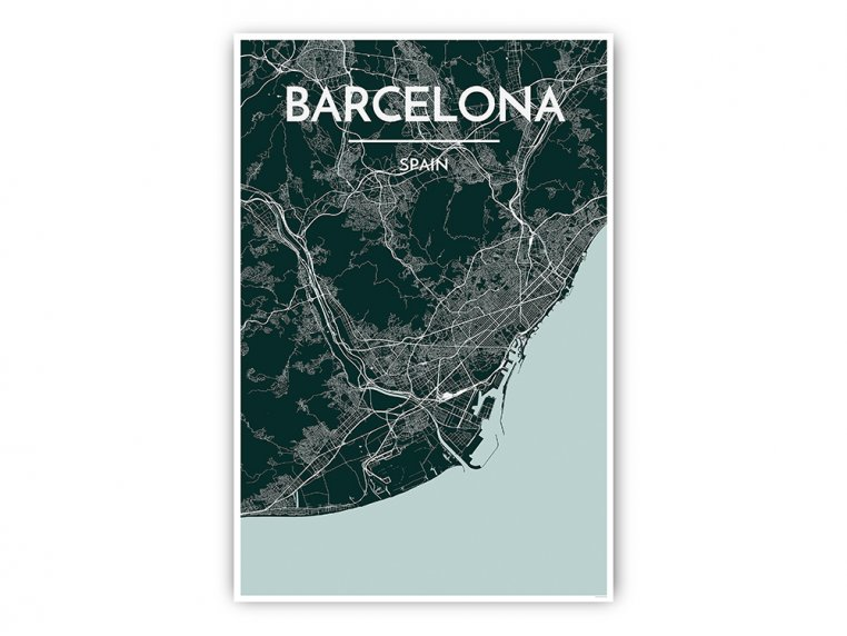 Modern City Map Art Print by Point Two Design - 48