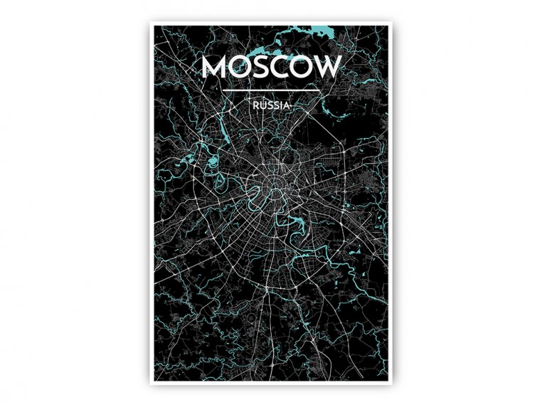 Modern City Map Art Print by Point Two Design - 50