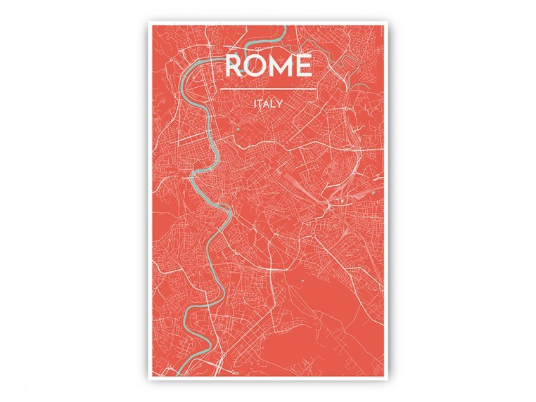 Modern City Map Art Print by Point Two Design - 51