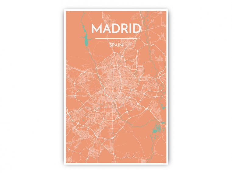 Modern City Map Art Print by Point Two Design - 52