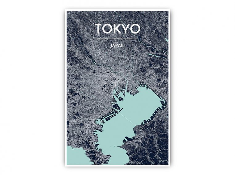 Modern City Map Art Print by Point Two Design - 55