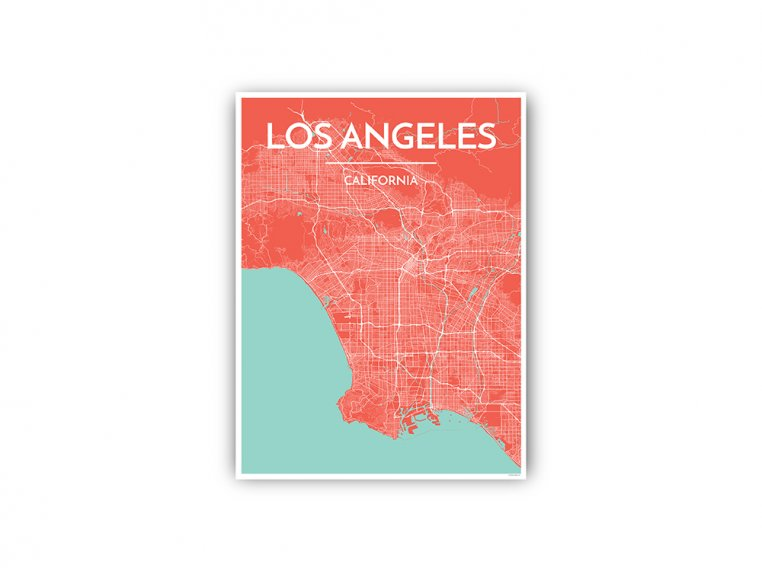 Modern City Map Art Print by Point Two Design - 61